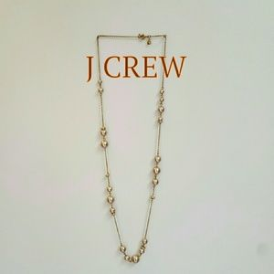 "J CREW 34"" Necklace Champagne Pearls"
